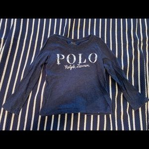 Gently used girl's Polo by Ralph Lauren l/s shirt